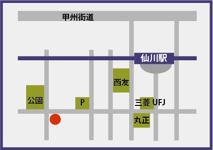 犬の保育園vowbee仙川店の地図